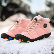 Winter Kids Boots For Boys Camouflage High Top Cotton Shoes Girls Waterproof Children Snow Boots Non