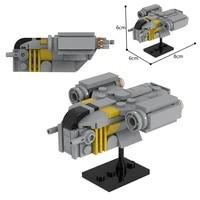 star series spaceship razor scale crest mini model moc building blocks diy decoration collection bricks toys kids gifts