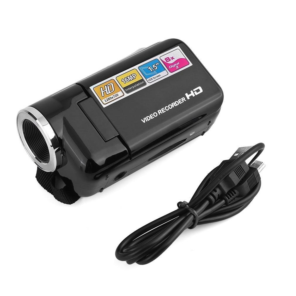 Мини видеокамера Full HD 1080P 16MP с 1,5-дюймовым tft-экраном 8X цифровой зум USB2.0 видеокамера DV камера SDHC/sd-карта