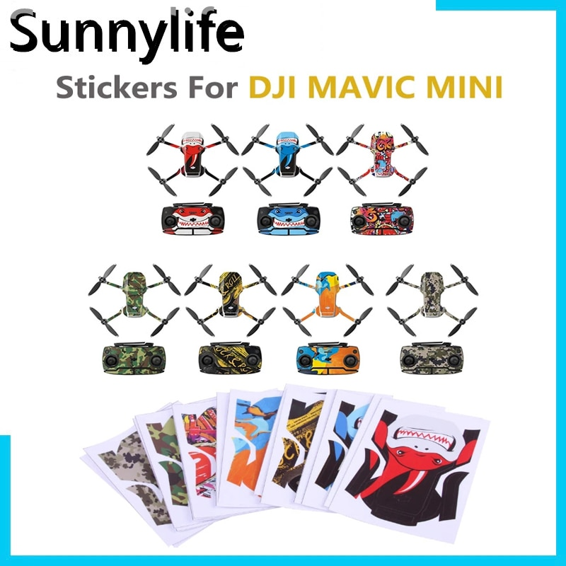 aliexpress.com - Protective Film PVC Stickers Waterproof Scratch-proof Decals Full Cover Skin Accessories for DJI Mavic Mini Drone Accessories