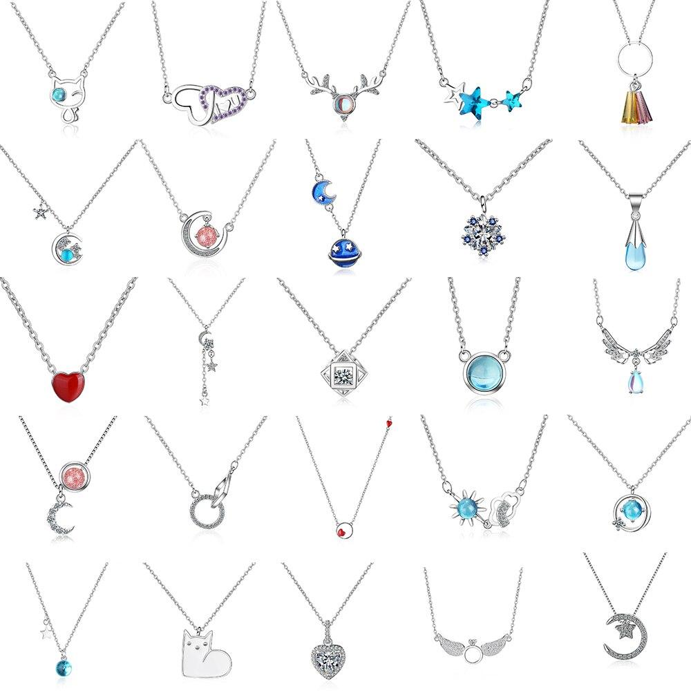 29-Тип-новый-925-стерлингового-серебра-с-украшением-в-виде-кристаллов-циркония-«сердце»-«любовь»-«Луна»-«Звезды»-Винтажное-колье-на-цепочке