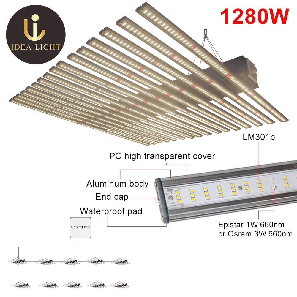 IDEA for indoor grow tent garden Factory Wholesale Full Spectrum LED Grow Light lm301b Samsung led grow light quantum board