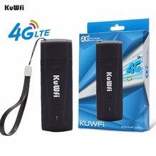 KuWFi USB 4G Modem LTE WiFi Dongle mobile WiFi Netzwerk Hotspot mini 3G 4G WiFi Modem Router mit SIM Karte Slot für Auto im freien