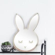 Kinder Cartoon Dekorative Spiegel Bad Baby Room Kaninchen Bowknot Wand Rahmen Kreative Hause Kunst Dekoration