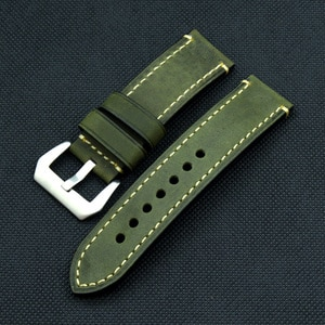 Men's Retro replace Straps 20 22 24 26mm Thick Cowhide Watch Band Crazy Horse Skin High-end Wristband watch accessories for pam