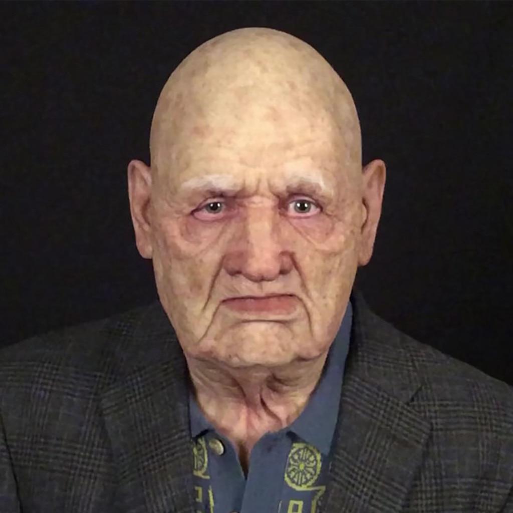 Bald Killer Helmet Mask Simulation Another Me-the Elder Halloween Holiday Funny Masks Supersoft Old Man Adult Mask Mascaras