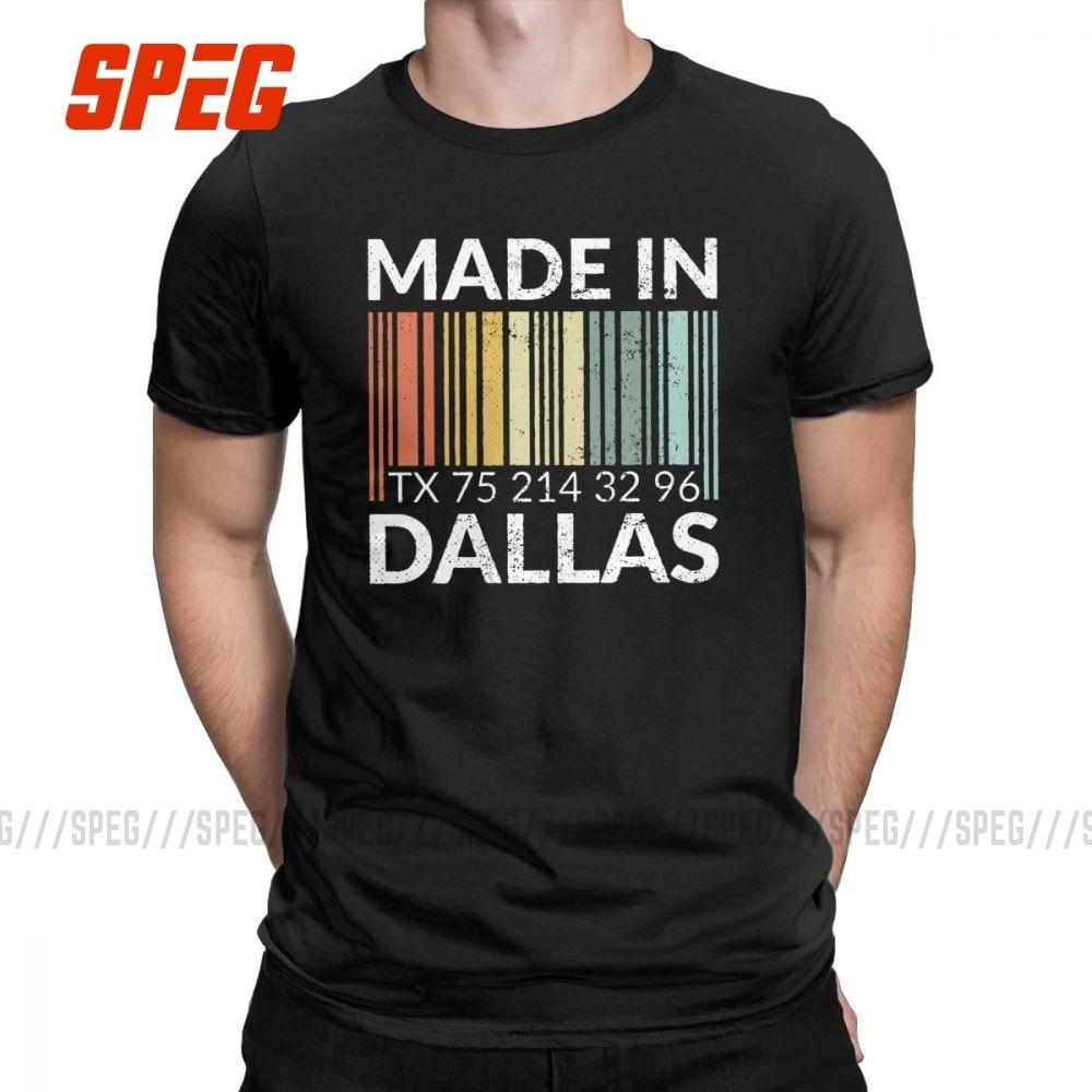 Ha nacido en Dallas T camisa de los hombres 100% algodón Humor camiseta Dallasite orgullo recuerdo residente Tee ropa de manga corta adulto