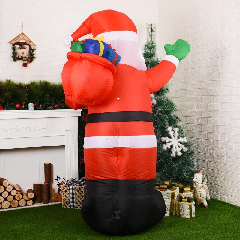 LED Inflatable Santa Gift Bag Luminous Inflatable Model Christmas Decoration Garden Props Ornaments Yard Lawn Decoration enlarge