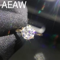 100 18k 750au gold 1ct moissanite engagement diamond ring d color vvs with national certificate for women