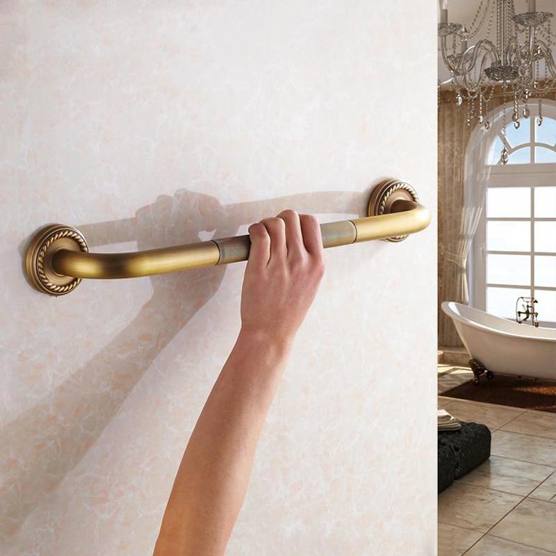 Antique Brass Grab Rail 50cm Wall Mounted Bathroom Toilet Handrail Grab Bar Shower Safety Support Handle Towel Rack For Elderly