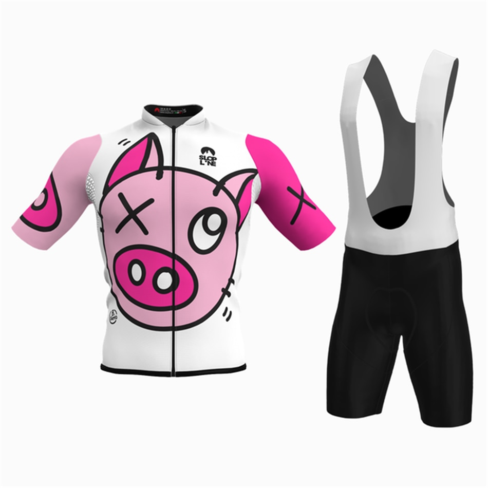 Slopline New Cycling Jersey Set Men Tops Shorts Bib shorts Kit Gel pad Ropa Ciclismo Maillot Bike Summer Shirts MTB Clothing