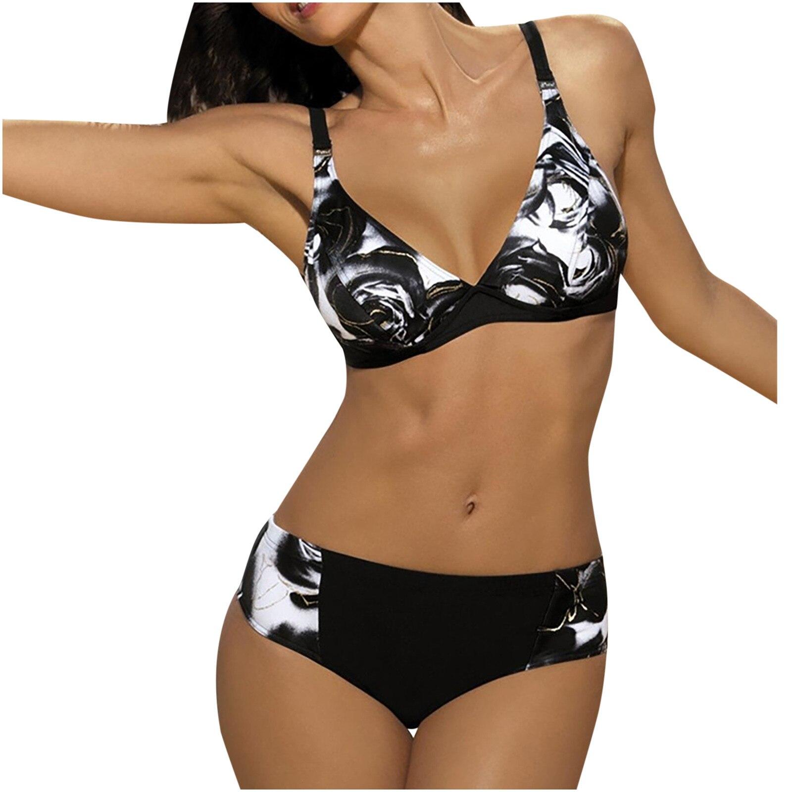 Bikini Sexy para mujer, traje de baño con estampado Tie-Dye, ropa de...