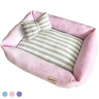 3 colors autumn winter waterproof kennel large pet cat dog bed pet supplies warm cozy dog house soft fleece nest dog baskets mat