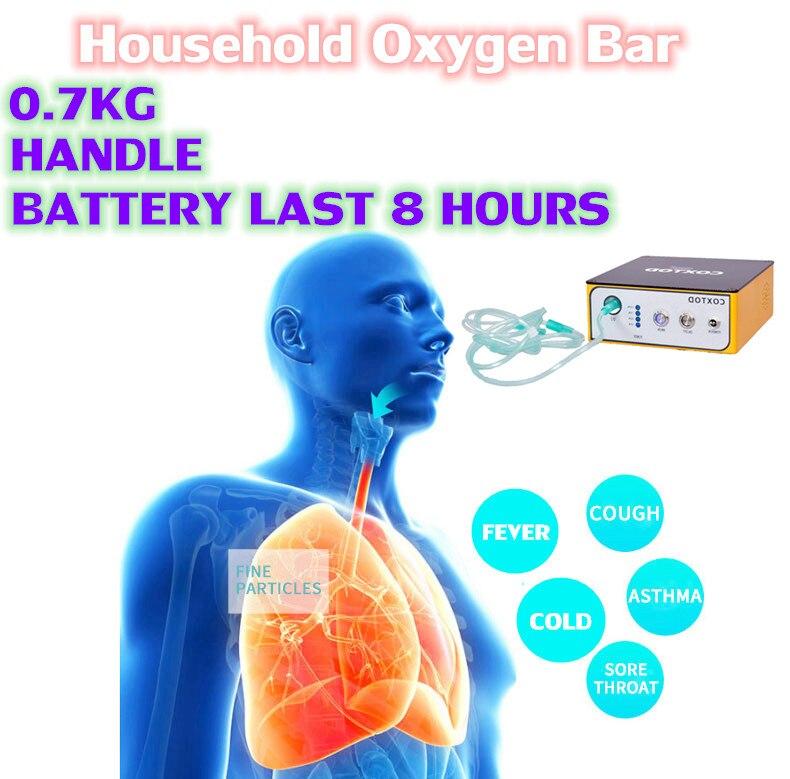 XGREEO جهاز الأكسجين الصغير 8 ساعات مولد أكسجين البطارية 24 ساعة المستمر الأكسجين ماكينة أنيون O2 بار