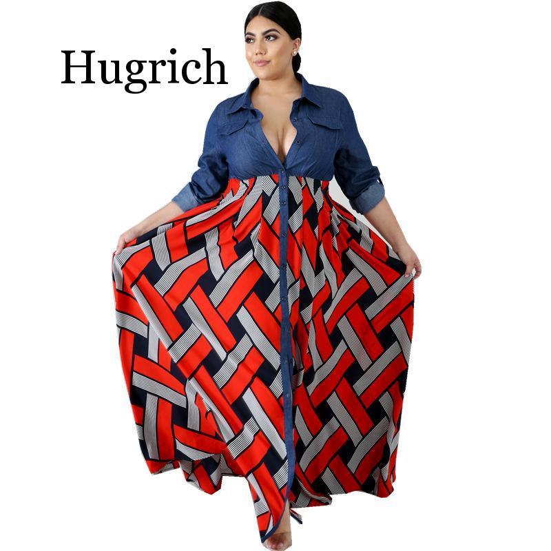 3xl 4xl plus size áfrica 2020 roupas na moda listra impresso manga longa maxi vestido feminino outono robe longo festa vestido africano