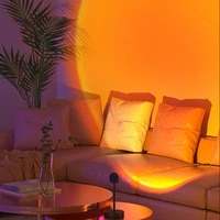 sunset projection aesthetic lamp usb led night light wall lamp photography background for home room bedroom lighting decoration