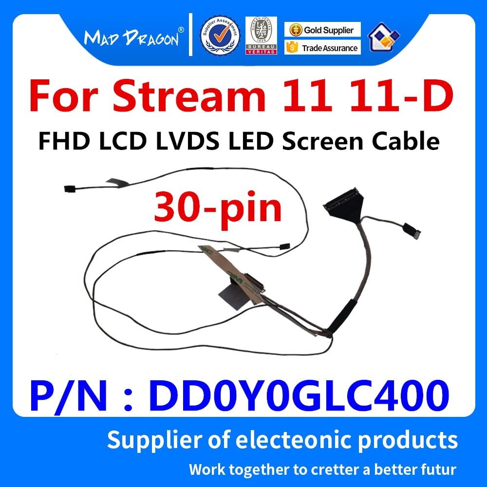 Nuevo original ordenador portátil LCD LVDS Cable para pantalla LED pantalla FLEX Cable para HP Stream 11 11-D FHD Panel DD0Y0GLC400 30-pin