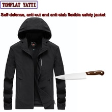 Self-Defense Stab-Resistant Cut-Proof jacket soft Stealth Swat Fbi Hacking Military Tactics hacking tools Jacket clothing 4XL