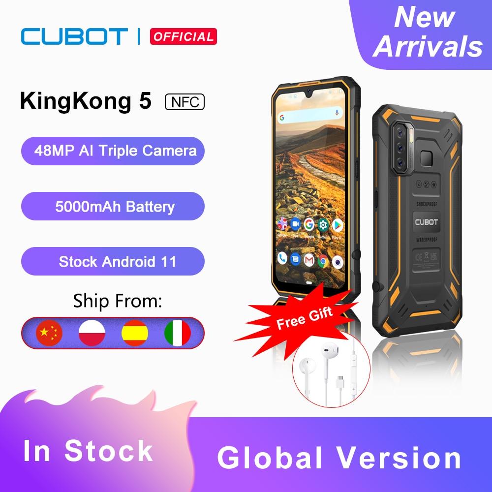 Cubot KingKong 5 IP68 Waterproof Rugged Smartphone 48MP Triple Camera 5000mAh 4GB+32GB Android 11 Mobile Phone NFC Octa-Core OTG
