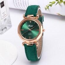 Watches Women Leather Strap Analog Quartz Wristwatch Fashion Ladies Casual Watch Luxury Crystal Cloc