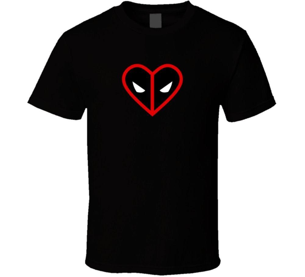 Deadpool corazón cómic héroe Fan película favorito camiseta Cool Casual pride camiseta hombres Unisex moda camiseta envío gratis