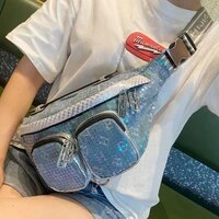 luxury designer bag shining sequines ita bag for womens bag crossbody shoulder bolsa casual sport chest sacs