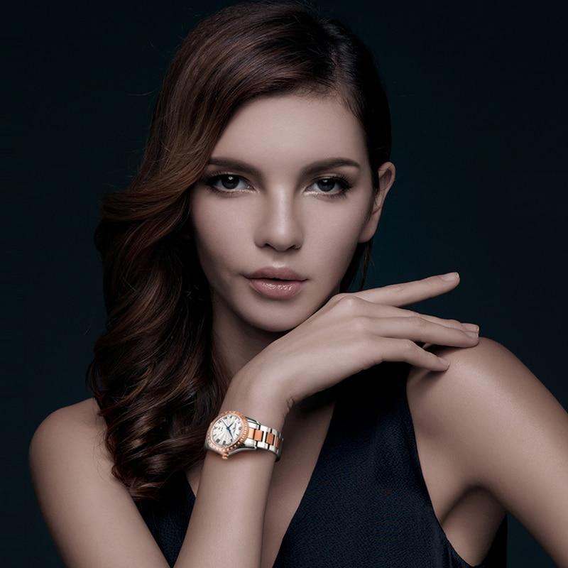 CARNIVAL Brand Ladies Fashion Automatic Watch Woman Luxury Waterproof Gold Calendar Dress Mechanical Wristwatch Relogio Feminino enlarge