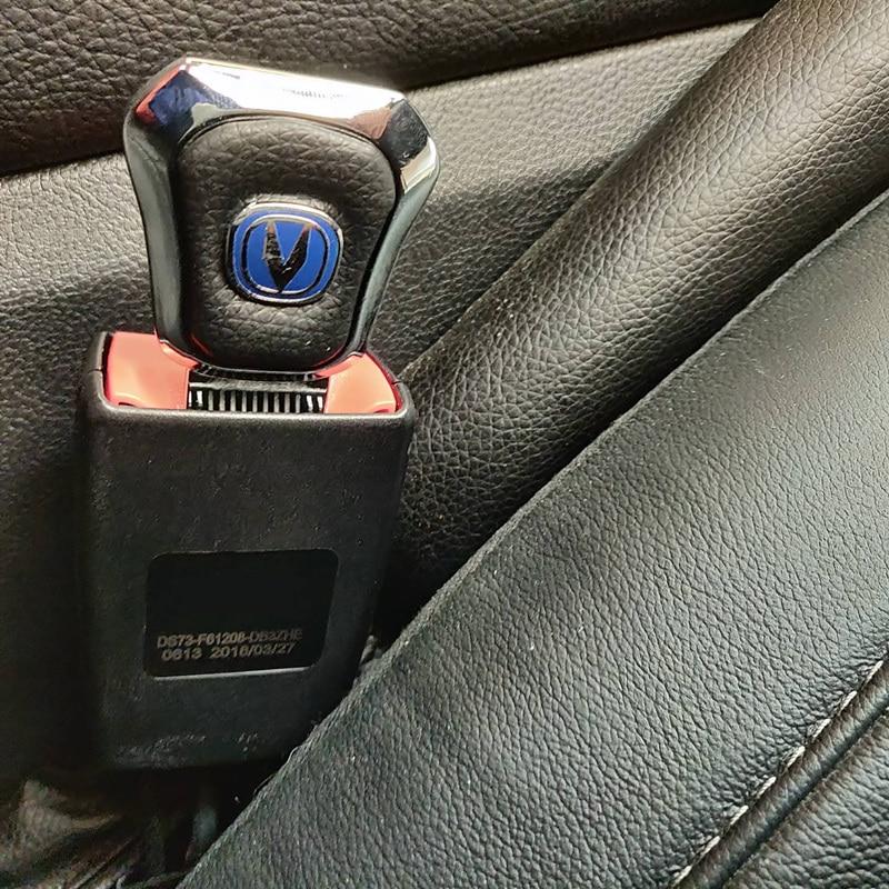 Hebillas universales de cinturón de seguridad con logotipo de CHANGAN, cinturón de seguridad de asiento de coche, Clip de hebilla para CS15 CS35PLUS CS55 CS75PLUS EADO