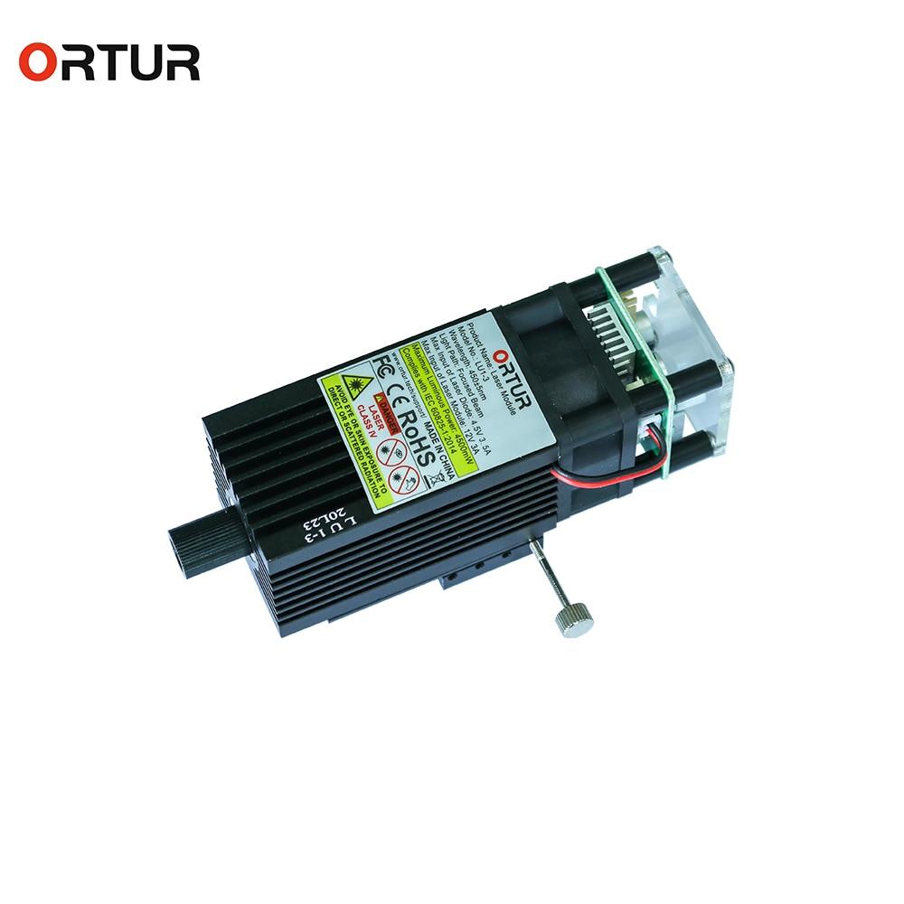 ORTUR Upgraded Laser Module Fixed Laser Beam Laser Head PWM Mode Overvoltage Protection for Desktop Laser Engraver