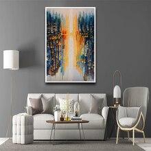Affiche de paysage moderne Hd imprimée   Peinture à lhuile, toile nordique, Pure, Impression abstraite, paysage urbain, Art porche, décor de maison