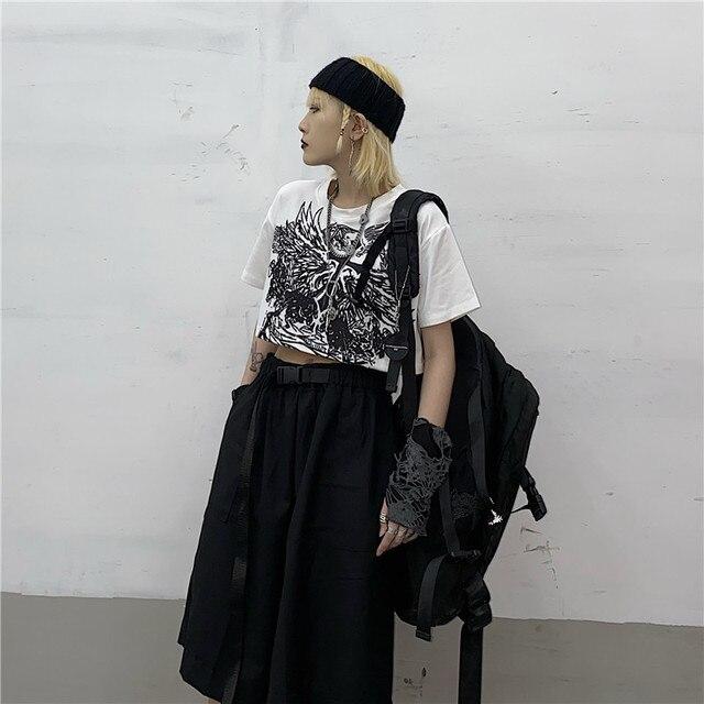 Gothic Style Crop Top Harajuku Graphic T Shirt for Women Ulzzang Korean Tshirt Summer Tee Croptop Goth Clothes Short Sleeve 6