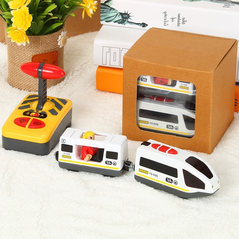 Tren Eléctrico de juguete a Control remoto para niños, Tren de juguete...