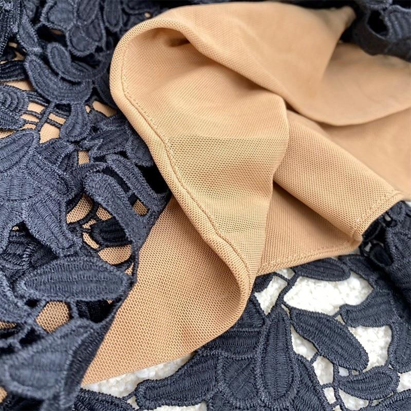 Fashion Summer Thailand DesignerStyle Hot Sale Black Hollow Out Spaghetti Dress