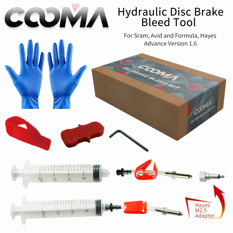 KIT de purga de freno hidráulico de bicicleta para SRAM y AVID sistema de frenos, sistema de frenos de fluido de punto, Kit de purga avanzada, V1.6