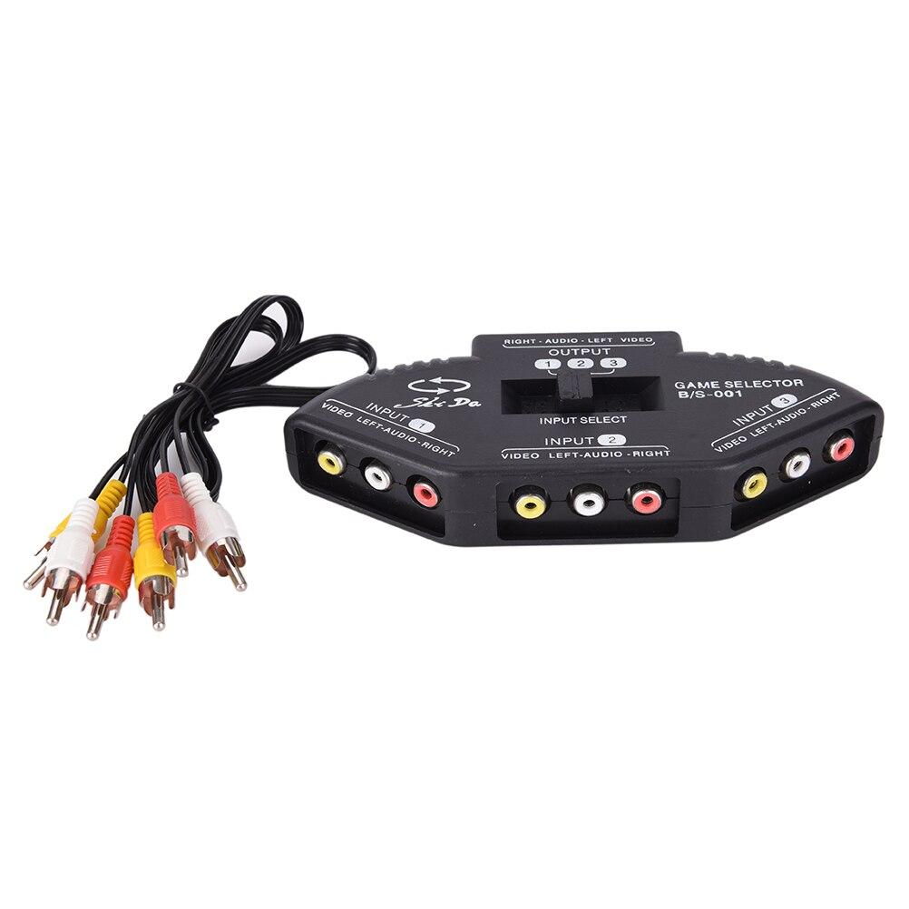Аудио Видео AV RCA переключатель сплиттер селектор от 3 до 1 RCA композитный AV кабель для STB ТВ DVD плеера Кабели VGA      АлиЭкспресс