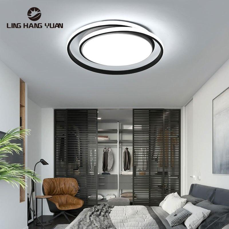 Светодиодный потолочный светильник черного, белого и золотого цвета, потолочный светильник для гостиной, столовой, коридора, светильник дл...