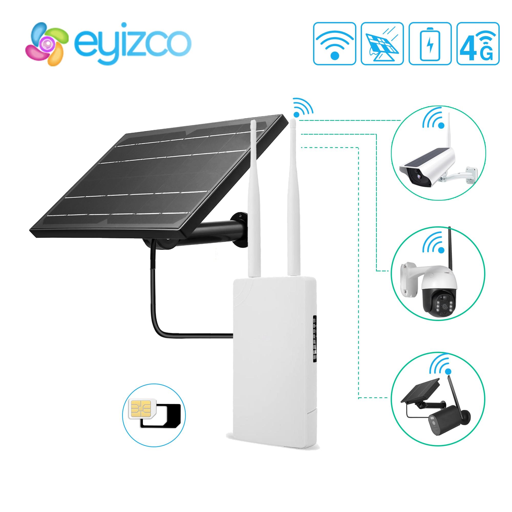 2.4G راوتر واي فاي في الهواء الطلق 18650 بطارية الطاقة الشمسية GSM بطاقة Sim 5V 12V 4G راوتر لكاميرا IP الشمسية واي فاي نظام الحماية المنزلي