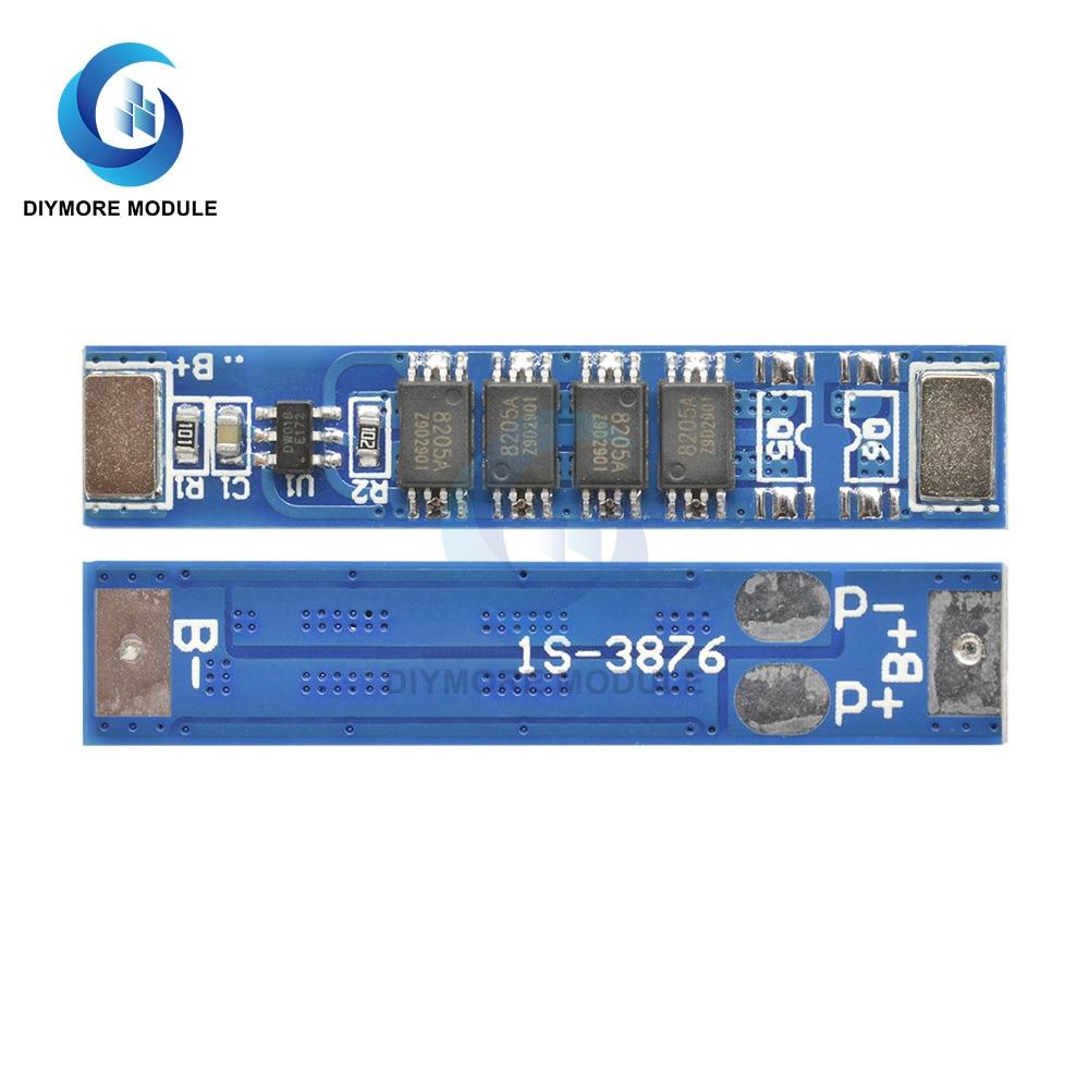 10 шт./лот 1S 3,7 в 5A 3MOS 10A 4MOS 15A 6MOS 18650 Защитная плата заряда литиевой батареи BMS 1S PCB PCM для внешнего аккумулятора