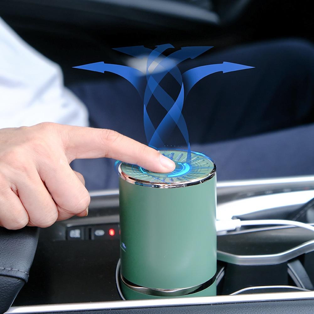 Автомобильный очиститель воздуха, портативный Анионный очиститель воздуха, мини USB очиститель воздуха, Устранитель дыма PM2.5, ионный генерат...