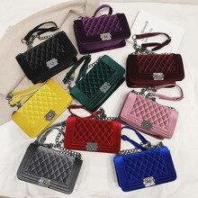 Fashion Women Velvet Crossbody Bag Purse Quilted Designer Shoulder Bag Clutch Handbag