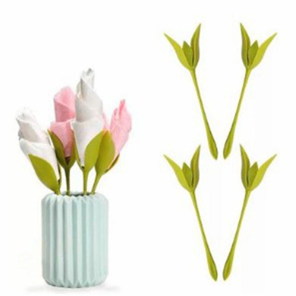 Rosa flor suporte de tecido doméstico coleta papel toalha titular ferramenta rolo flor serviette titular restaurante do hotel decoração