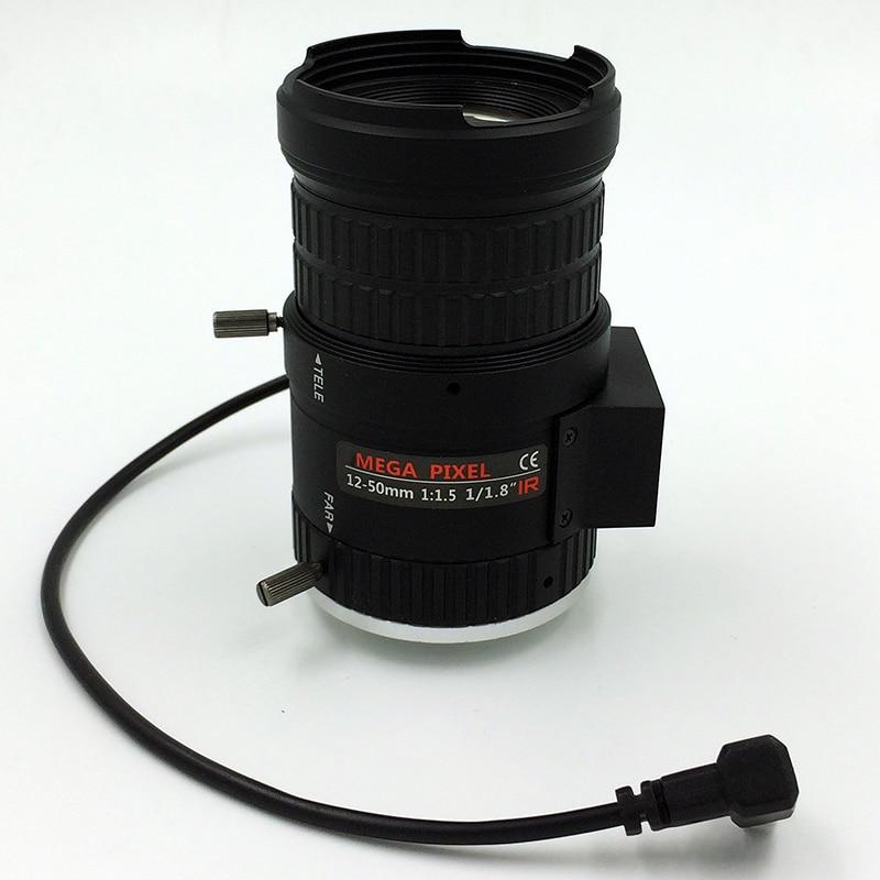 """Lente inteligente de seguridad Survillience 4X vari-focal 1/1.8 """"4K 12 ~ 50mm lente focal y zoom manual dc-iris F #1,5 CS lente de montaje"""