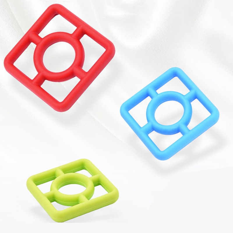 Salvamanteles de mesa con posavasos de silicona de color rojo azul y verde de 6 uds, salvamanteles de decoración para mesa o cena, juego de posavasos de silicona para decoración de cocina