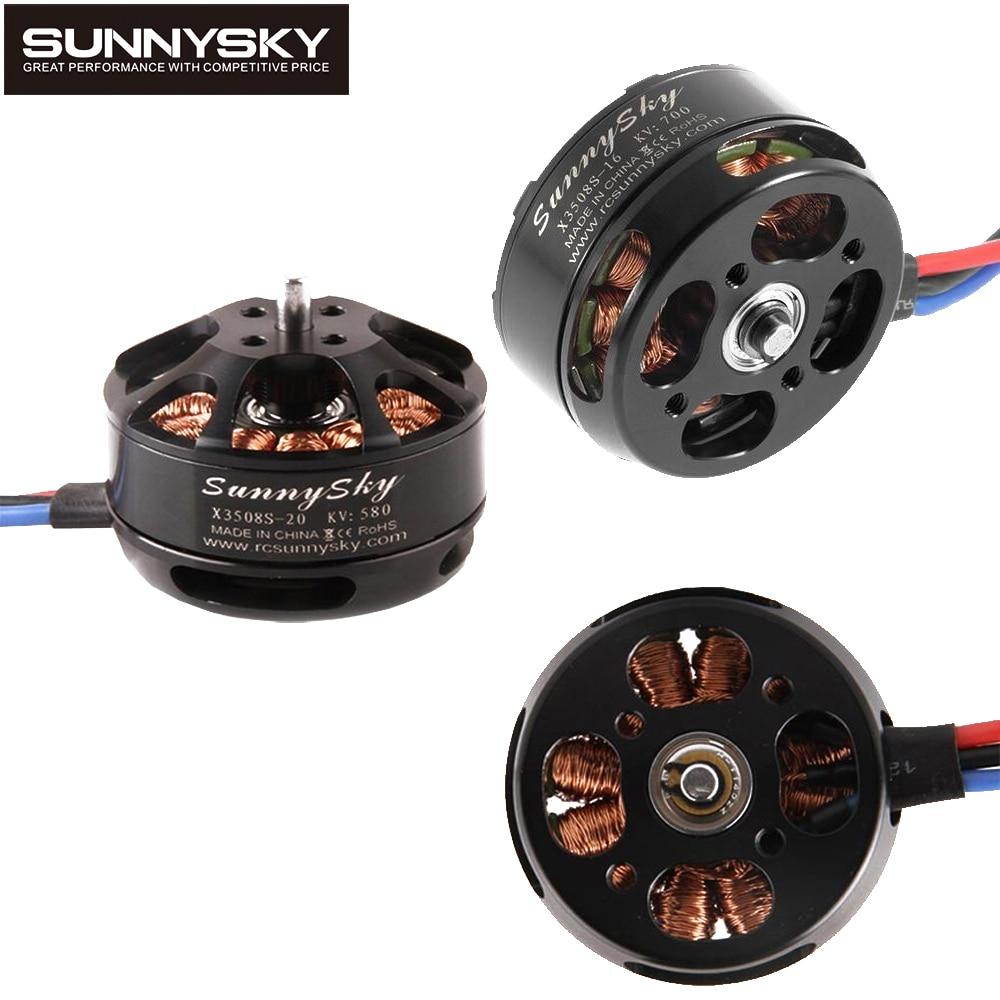 1 Uds SunnySky X3508S 380KV 580KV 700KV Motor sin escobillas soporte 4S para mini FPV quadcopter gopro aérea de multicopter