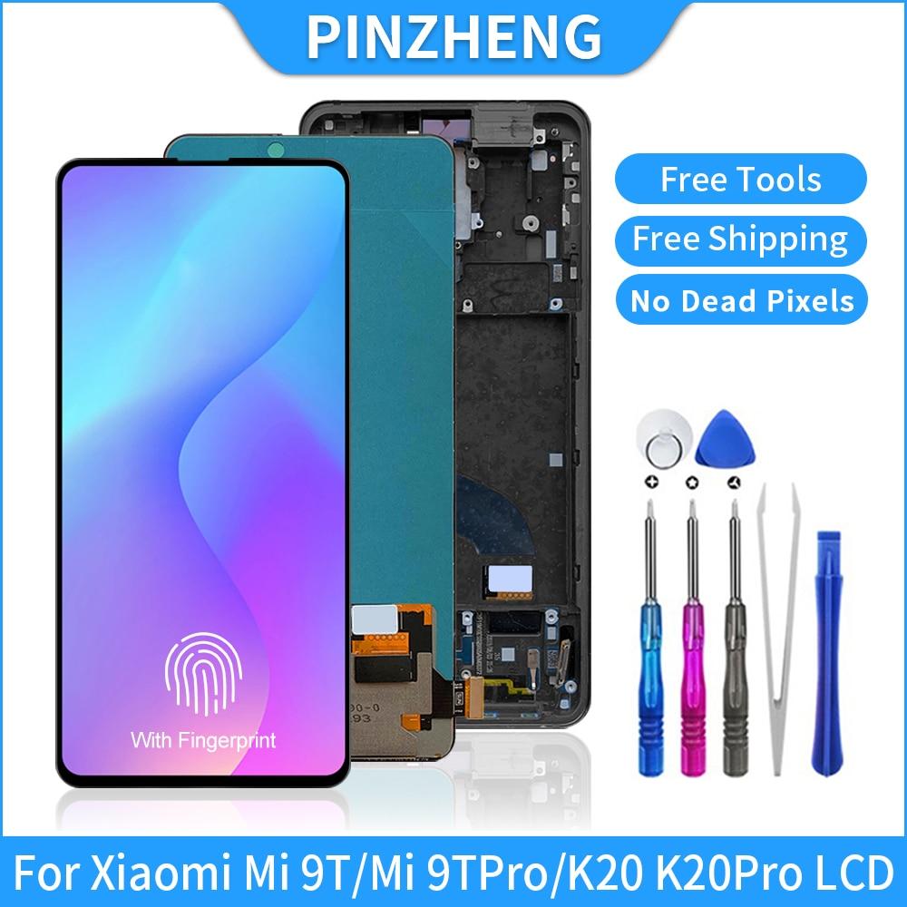 شاشة LCD من PINZHENG مقاس 6.39 بوصة Amoled Mi9T لهاتف شاومي Mi 9T Pro شاشة LCD تعمل باللمس مجموعة رقمية لريدمي K20 Pro Redmi K20 LCDs