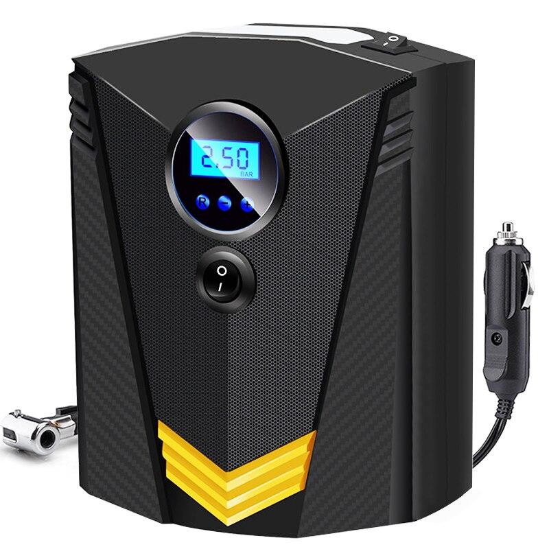 Dc 12 volts carro portátil bomba de ar compressor digital 150 psi bomba de pneu de ar auto inflator para carro motocicleta led luz pneu bomba