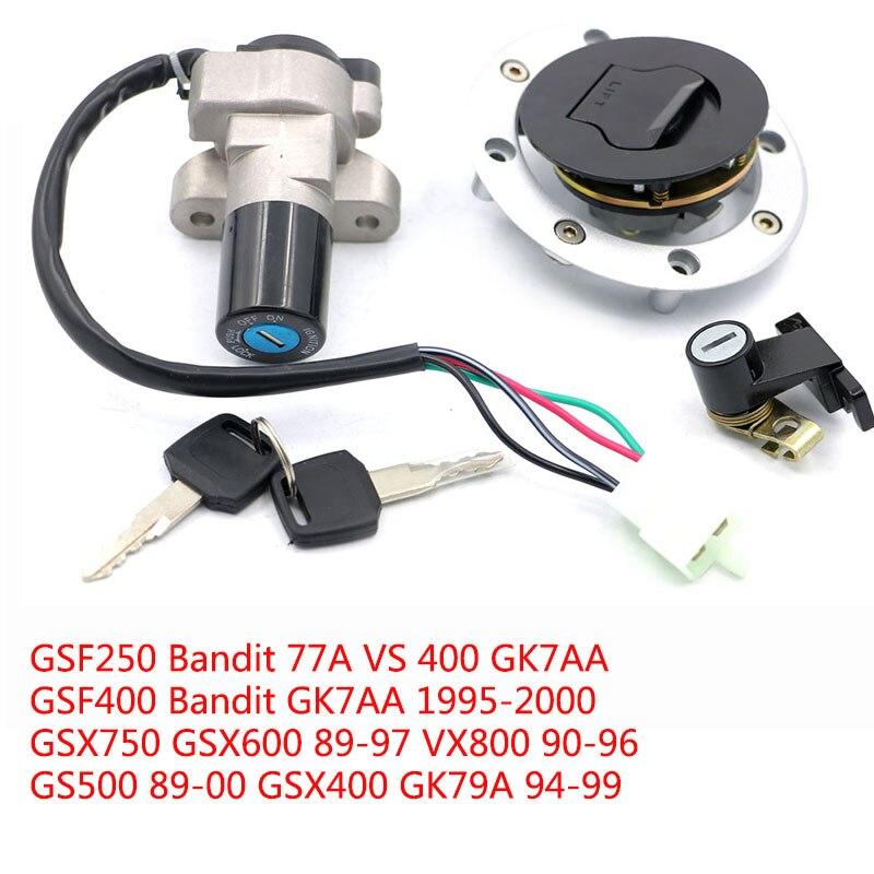 مفتاح إشعال قفل الوقود خزان الغاز غطاء تغليف مفتاح القفل مقعد مجموعة عدة لسوزوكي GSF 250 400 بانديت GSX 600 750 GS500 VX800
