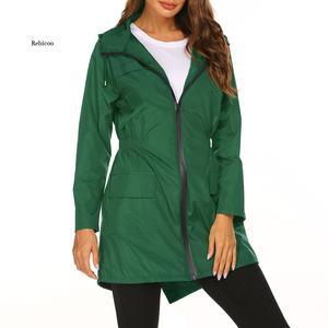 New Women's Lightweight Raincoat for Women Waterproof Jacket Hooded Outdoor Hiking Jacket Long Rain Jackets Active Rainwear
