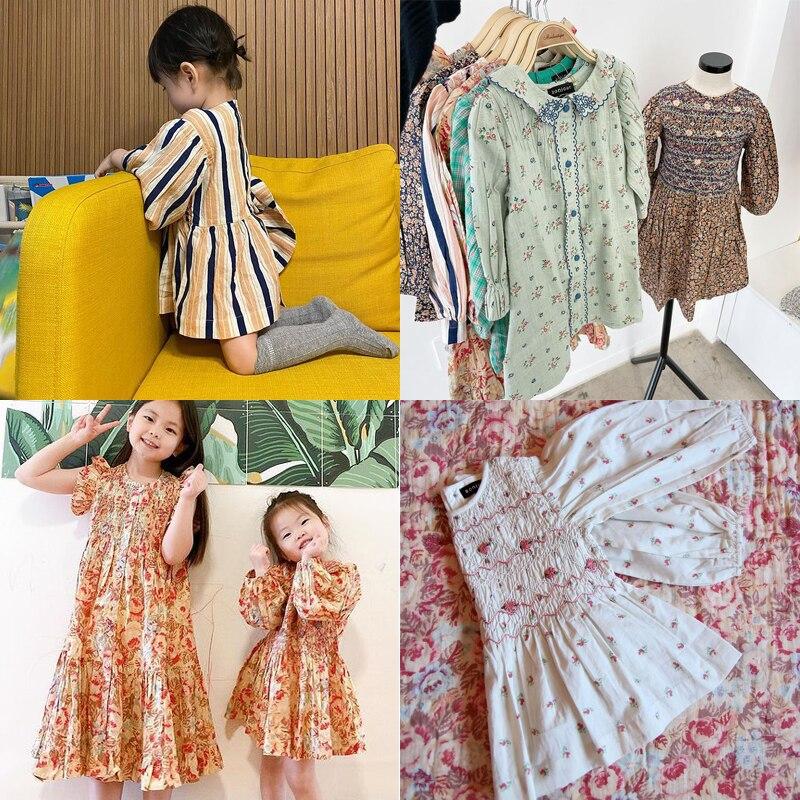 Kids Dresses 2021 New Summer BD Brand Girls Cute Long Sleeve Flower Embroidery Princess Dress Baby T