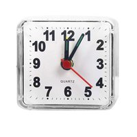 Creative Crystal Alarm Clock Small Square Alarm Clock Bedroom Bedside Office Household Electronic Clock